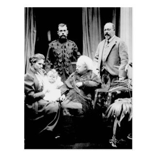 Queen Victoria, Tsar Nicholas II Postcard