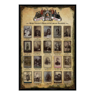 Queen Victoria's Highland & Lowland Regiments Poster
