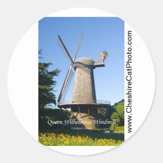 Queen Wilhelmina Windmill California Products Round Sticker