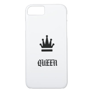 Queen with crown monochrome design Case-Mate iPhone case