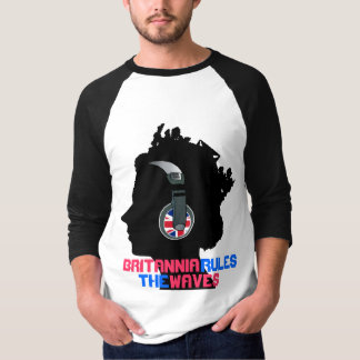QUEEN WITH HEADPHONES (BRITANNIA RULES THE WAVES) T-Shirt