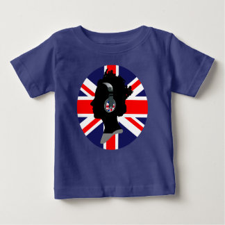QUEEN WITH HEADPHONES (UK FLAG DESIGN) BABY T-Shirt