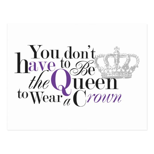 Queen without a Crown Postcard