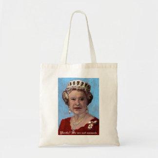 queenelizabethbag, Plastic? We are not amused.
