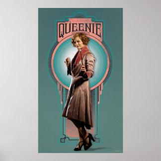 Queenie Goldstein Art Deco Panel Poster