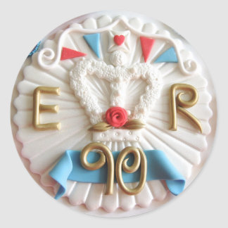 Queen's 90th Birthday Round Stickers