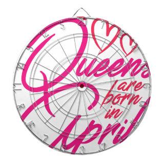Queens Are Born In APRIL Dartboard