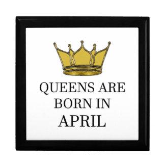 Queens Are Born In April Gift Box