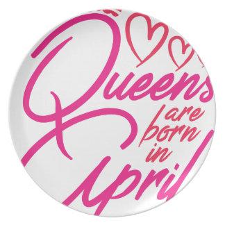 Queens Are Born In APRIL Plate