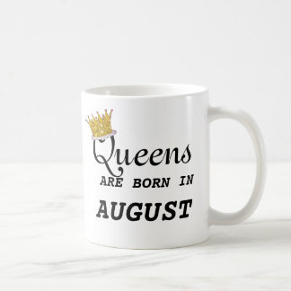Queens Are Born in Aug Heart and EDIT NAME ON BACK Coffee Mug