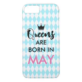 Queens are born in - Custom month and colour iPhone 7 Case