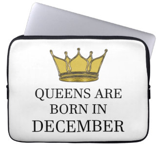 Queens Are Born In December Laptop Sleeve