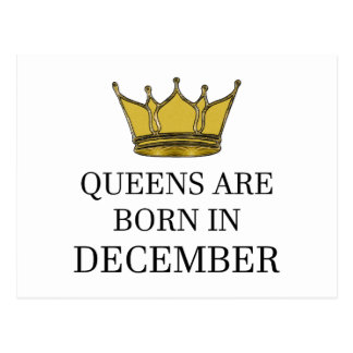 Queens Are Born In December Postcard
