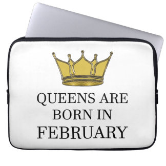 Queens Are Born In February Laptop Sleeve