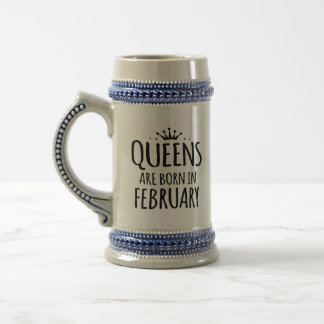 Queens Are Born In February special mug