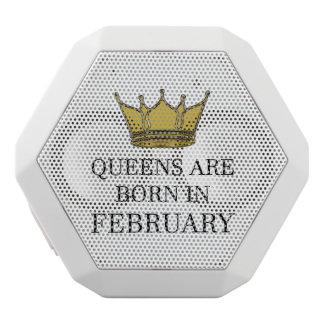 Queens Are Born In February White Bluetooth Speaker