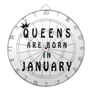 Queens Are Born In January Dartboard