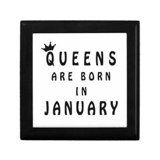 Queens Are Born In January Gift Box