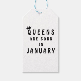Queens Are Born In January Pack Of Gift Tags