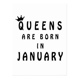 Queens Are Born In January Postcard