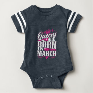 Queens Are Born in March Baby Bodysuit