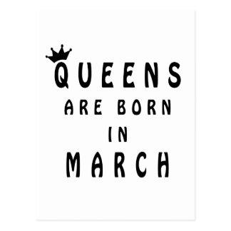 Queens Are Born In March Postcard