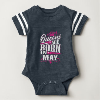 Queens Are Born in May Baby Bodysuit