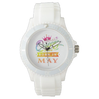 Queens are born in May Birthday Gift Watch