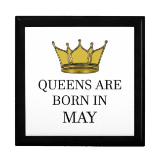 Queens Are Born In May Gift Box