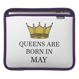 Queens Are Born In May iPad Sleeve