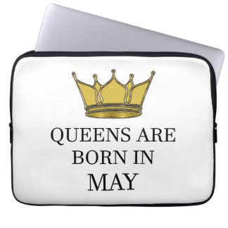Queens Are Born In May Laptop Sleeve