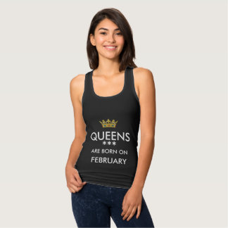 queens are born on february black tank top