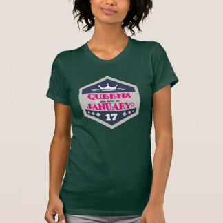 Queens Are Born On January 17th (Grunge) T-Shirt