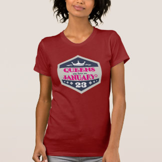 Queens Are Born On January 23rd T-Shirt