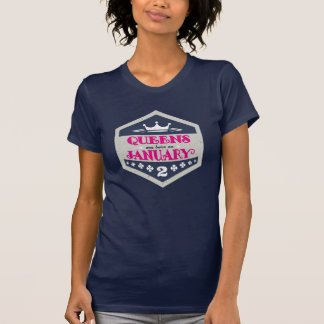 Queens Are Born On January 2nd (Grunge) T-Shirt