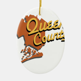 Queens County Ceramic Oval Ornament