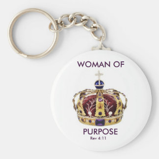 queens crown, WOMAN OF, PURPOSE, Rev 4:11, C4 Keychain