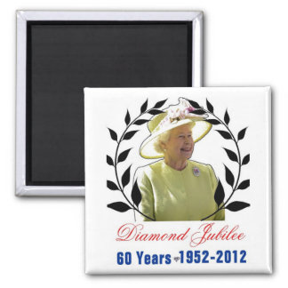 Queens Diamond Jubilee 60 Years Magnet