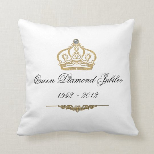 Queens Diamond Jubilee Throw Pillow