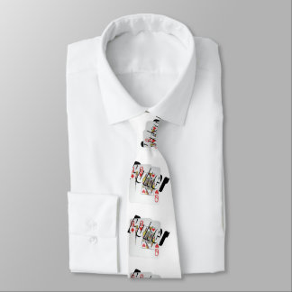 Queens Dimensional Poker Logo, Unisex Silky Tie