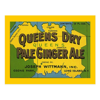 Queens Dry Pale Ginger Ale Ozone Park POSTCARD