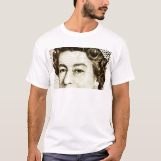 Queens Elizabeth II on 50 pound note. T-Shirt