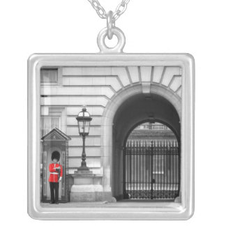 Queen's Guard Keeping Watch Silver Plated Necklace