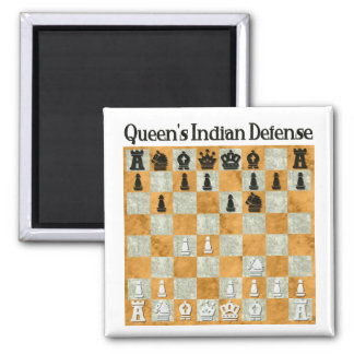 Queen's Indian Defense Square Magnet