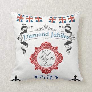 Queen's Jubilee Throw Pillow