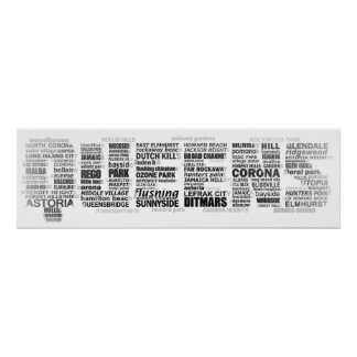 Queens New York Typography Photo Poster