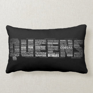 Queens New York Typography Pillow