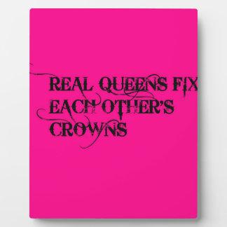 Queens Plaque