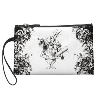 Queen's Rabbit - Vintage Alice Swirls Collection Wristlet Purses