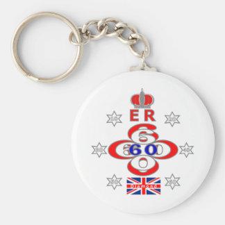 Queens Royal Jubilee stars design Keychain